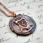 Copper Heraldic Crest Pendant