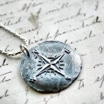 Silver Compass Rose Pendant