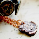 Copper Flower Forget Me Not Pendant