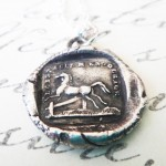 Silver French Horse Jumping Gate Pendant