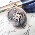 Bronze Small Compass Rose Pendant