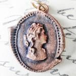 Bronze Cameo Pendant