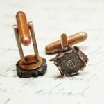 Copper Letter T Cufflinks