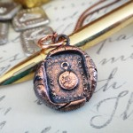Copper French Pocket Watch Pendant