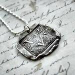 Silver Ornate Initial Pendant