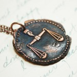 Copper Scales of Justice Pendant