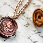 Copper Scottish Thistle Pendant