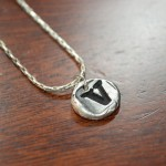 Silver Small Letter Pendant