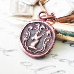 Copper Stag Crest Necklace