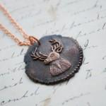 Copper Stag Deer Pendant