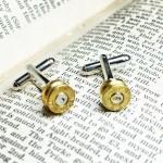 Bullet Casing Cuff Links - Bullet Gun Cufflinks
