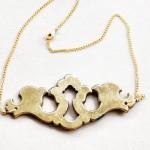 Gold Vintage Escutcheon Pendant