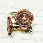 Scotland Thistle Wax Seal Cufflinks - Scottish Cuff Links in Copper